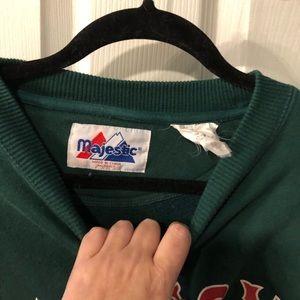 Majestic Tops - Red Sox majestic crew neck sweatshirt L